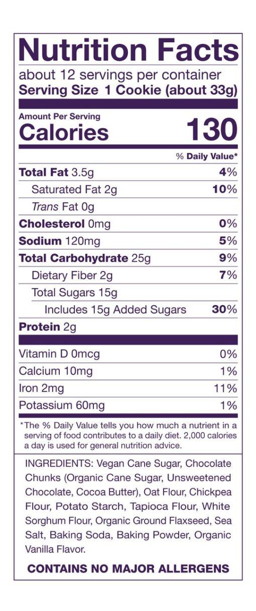choco chunk nutrition
