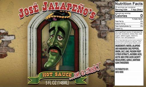 Jose Hot Sauce Label